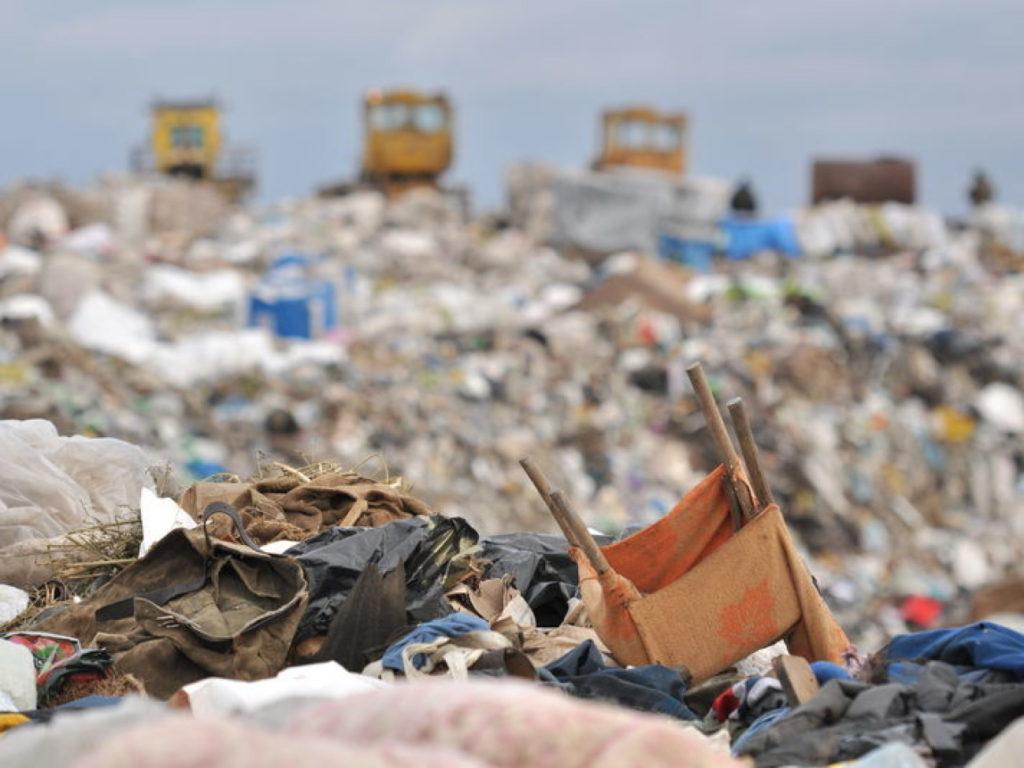 Место утилизации мусора